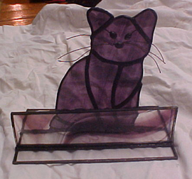 Buisness cardholder stained glass wow cat business cardholder colourmoves